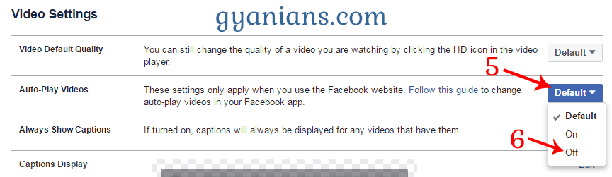 How to Disable Facebook Auto-Play Videos and Audio on Android and PC - Gyanians