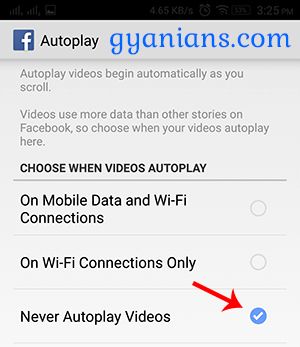 How to Disable Facebook Autoplay Videos and Audio on Android and PC step 4