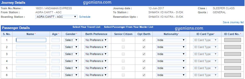 Online Railway Ticket Booking
