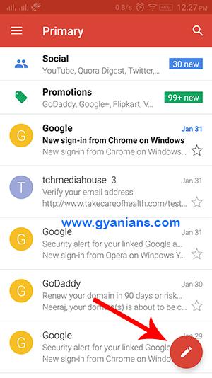 gmail compose icon
