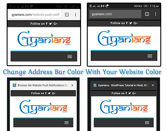 Website Aur Mobile Browser Ke Address Bar Color Same Kaise Kare