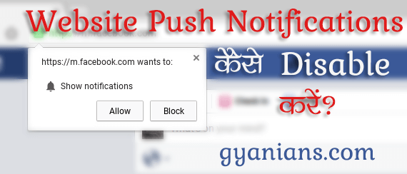 Broswer Me Website Push Notifications Disable Kaise Kare