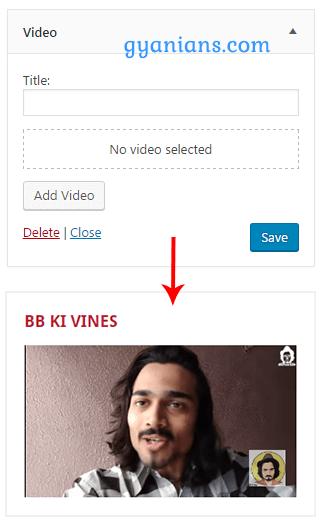 New Video Widget