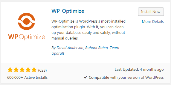 wp-optimize plugin for post revisions