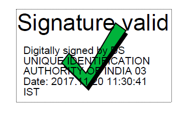 aadhaar card verified signature