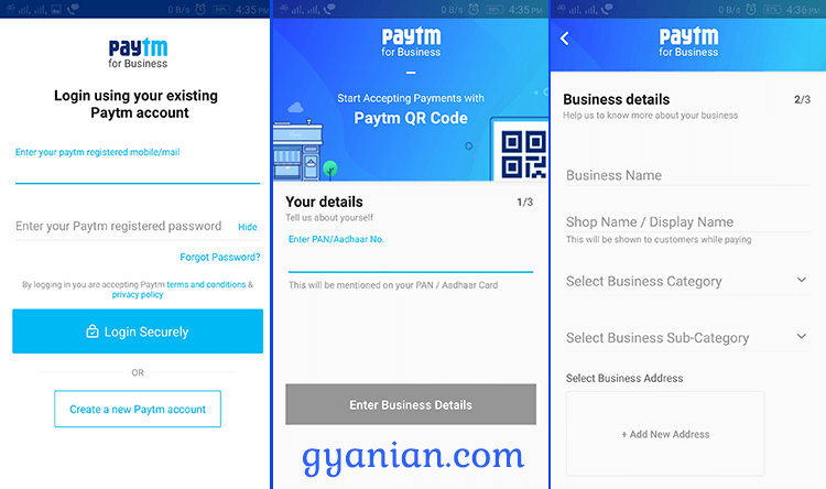 Paytm for Business App Installation