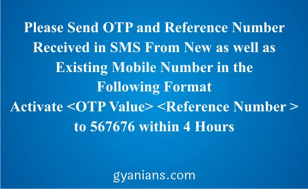 change registered mobile number using ATM step 7