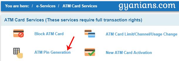 ATM Card Services