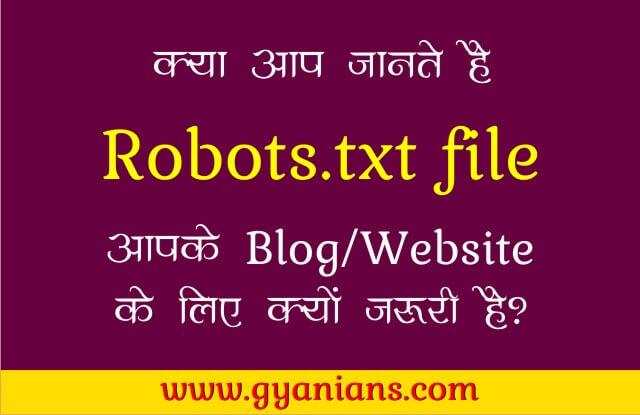 Robots.txt file kya hai