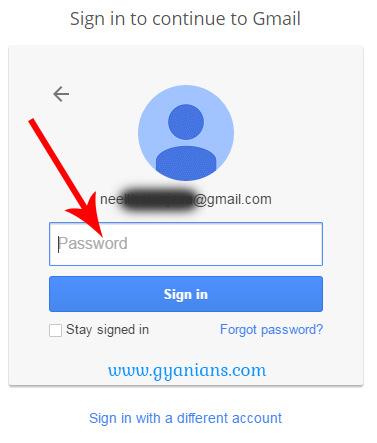 type gmail password
