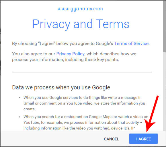 gmail privacy policy