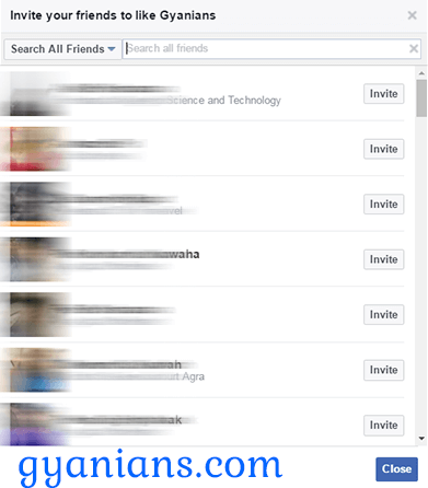 Facebook Page par sabhi friends ko Ek click me Invite kaise kare