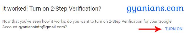 Gmail Par 2-Step Verification Kaise On Kare Jankari Hindi Me