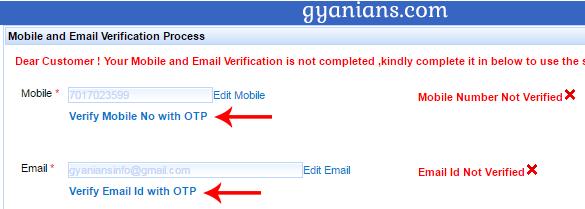IRCTC account verification