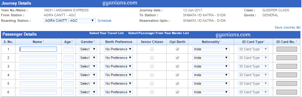 Online Railway Ticket Booking