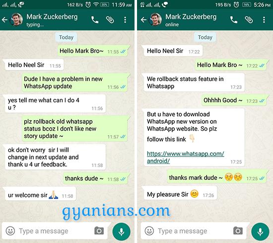 WhatsApp Pe Fake Chat Kaise Create Kare - gyanians