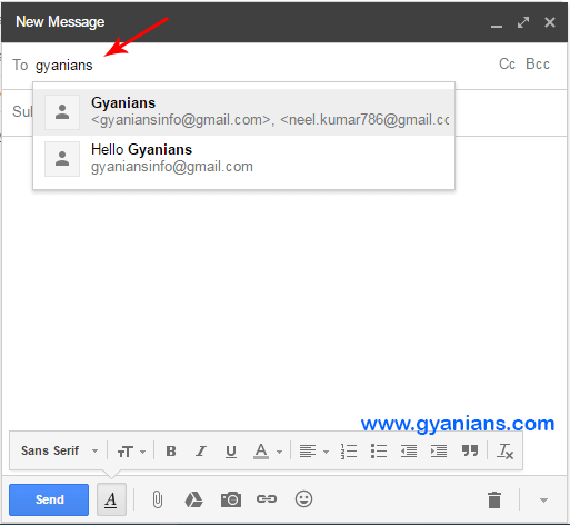 gmail group email in hindi