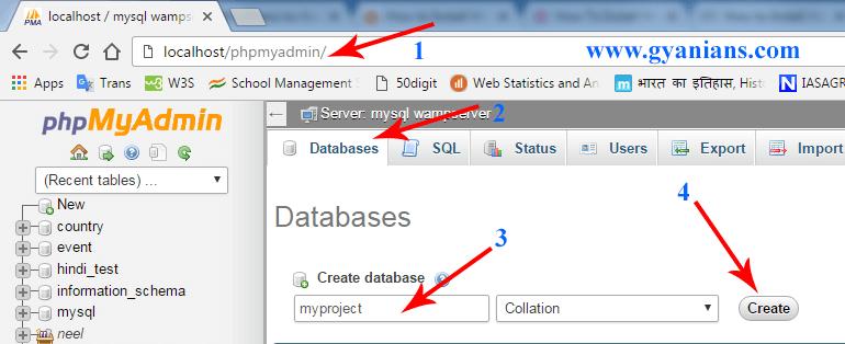 phpmyadmin database