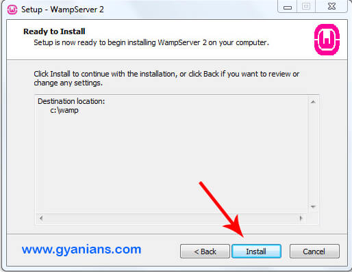 WampServer Install Step - 4