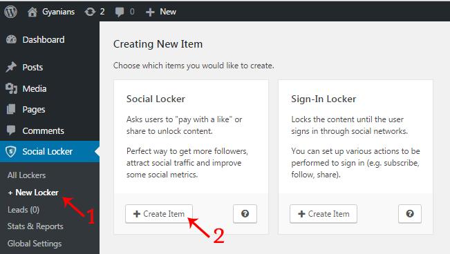 Create Social Content Lock