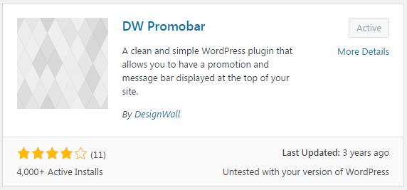 DW Promobar Plugin