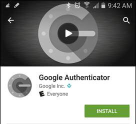 Google Authenticator app