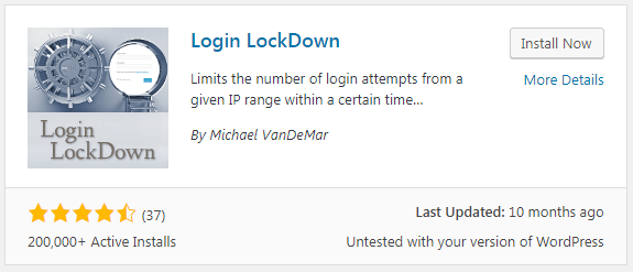 Login LockDown Plugins