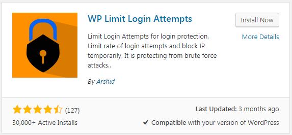 WP Limit Login Attempts Plugin