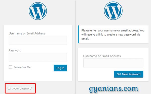 recover your wordpress password