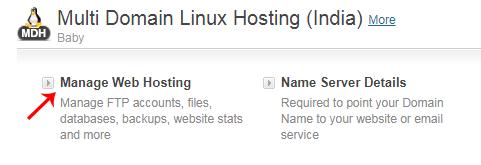 Manage Web Hosting in Hostgator