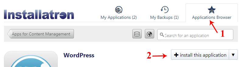 WordPress Installation Page on Godaddy