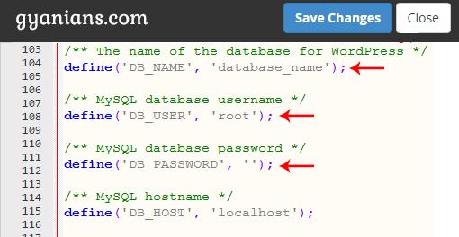 change-database-information-in-wp-config-file