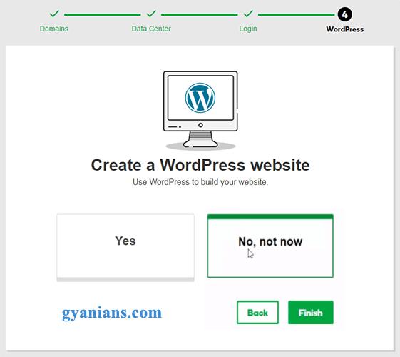create a wordpress website in godaddy