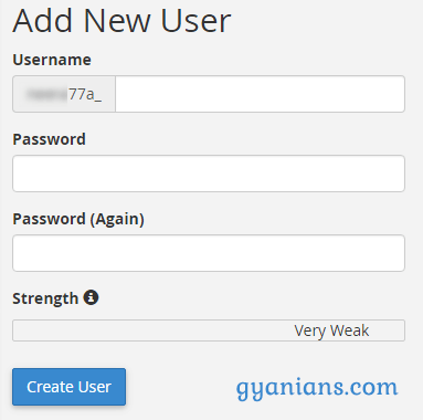 create db user in mysql