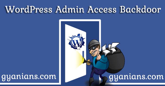 WordPress Admin Access Backdoor Kaise Create kare