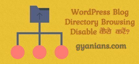 WordPress Blog Directory Browsing Disable kaise kare