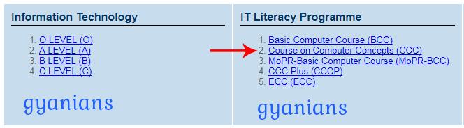 NIELIT CCC Course