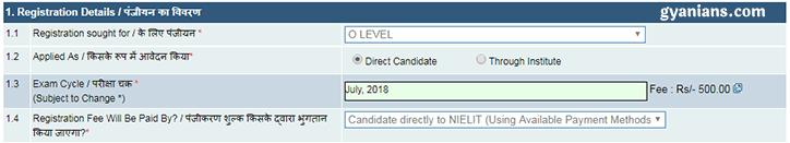 o level registration 1