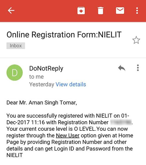 o level registration number email 2