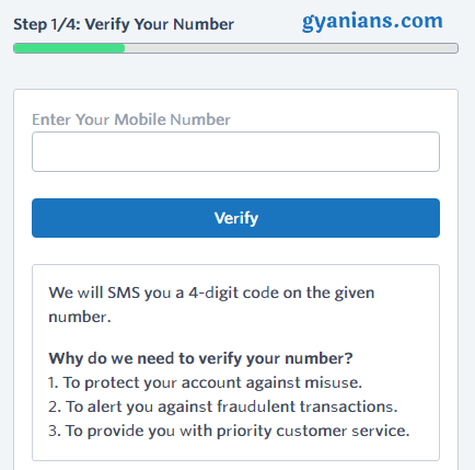 verify your number - instamojo