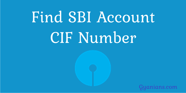 Find SBI Account CIF Number in Hindi