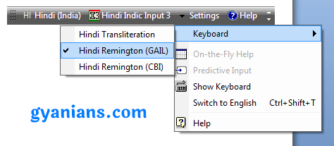 set hindi remington gail keyboard layout