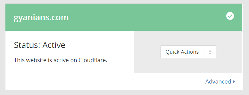 active status on cloudflare